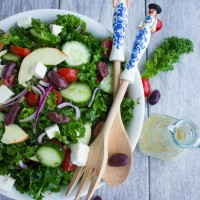 Healthy Kale Greek Salad