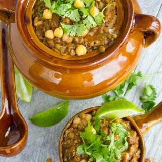 Moroccan Lentil Beans Soup
