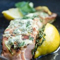 Seared Salmon with Blue Cheese
