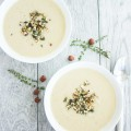 Cauliflower Hazelnut Pear Soup