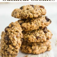 Long Pin for Healthy Oatmeal Raisin Cookies