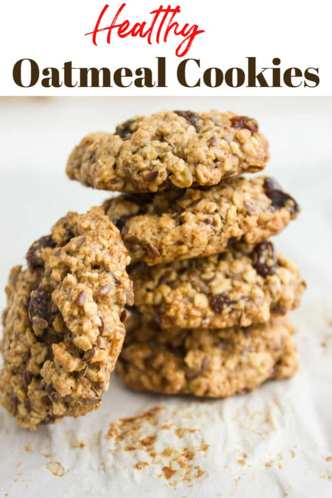 Long Pin for Healthy Oatmeal Raisin Cookies