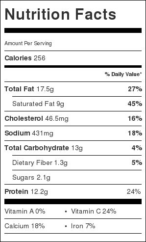 Kale Mushroom Pizza Nutrition Facts
