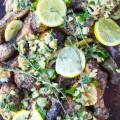 Lemon Artichoke Garlic Roast Chicken with Salsa