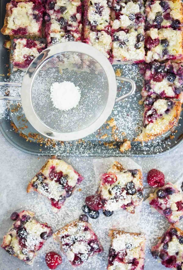 Berry Citrus Poppy Seed Bars