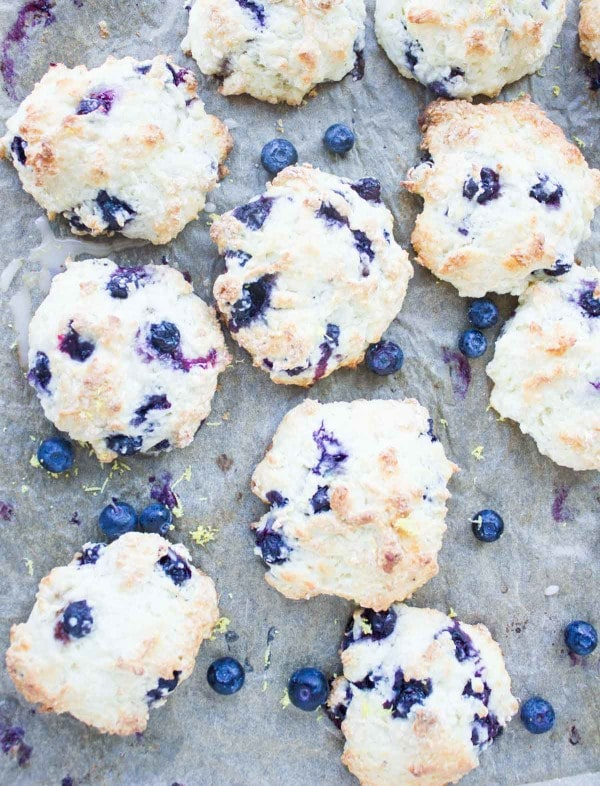 Easy Lemon Blueberry Drop Biscuits