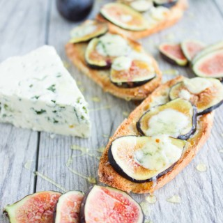 Fig Blue Cheese Honey Crostini