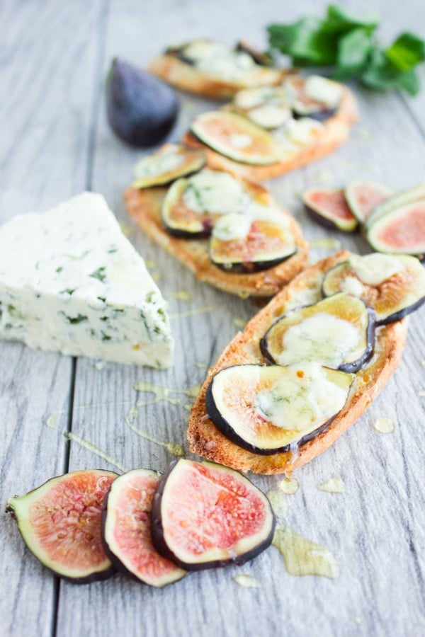 Fig Blue Cheese Honey Crostini