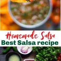 long pin for homemade salsa
