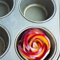 Peach Plum Rose Tarts