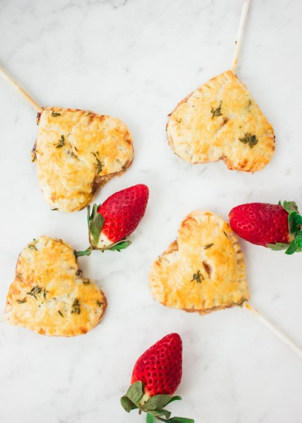 Strawberry Brie Lollipop Pies