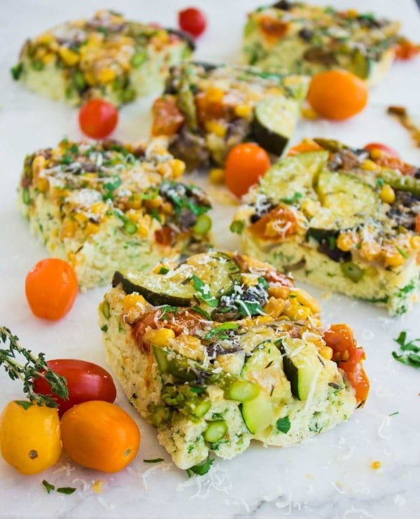 Upside down Veggie Kale Herb Cake
