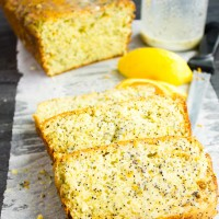 Citrus Poppy Seed Loaf with Yogurt Glaze