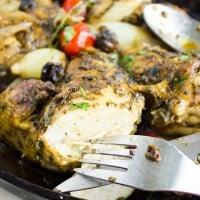 Easiest Garlic Herb Roast Chicken