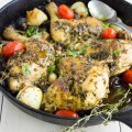 Easiest Garlic Herb Roast Chicken