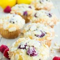 Long Pin for Lemon Raspberry Almond Crunch Muffins