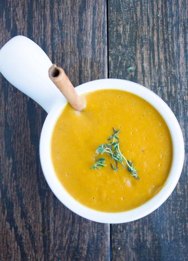 Mediterranean Pear Cinnamon Squash Soup