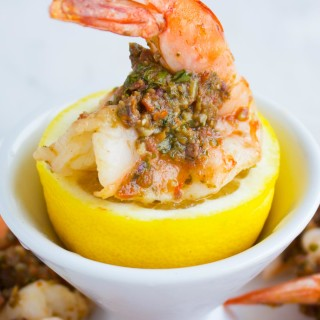 Pesto Stuffed Shrimps