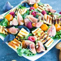 Rainbow Power Grilled Haloumi Salad