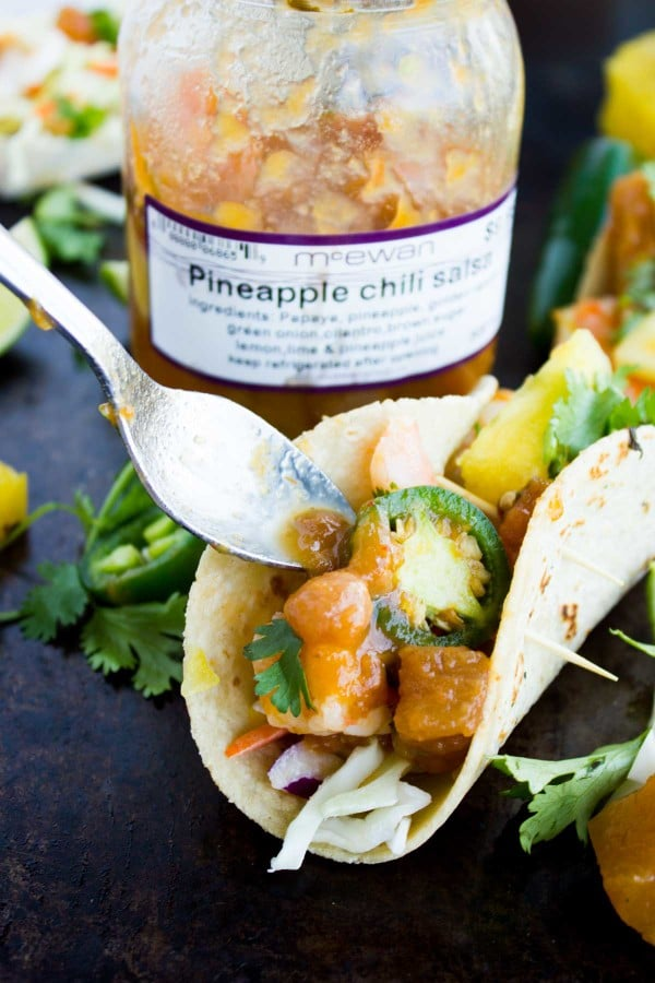 Shrimp Pineapple Chili Salsa