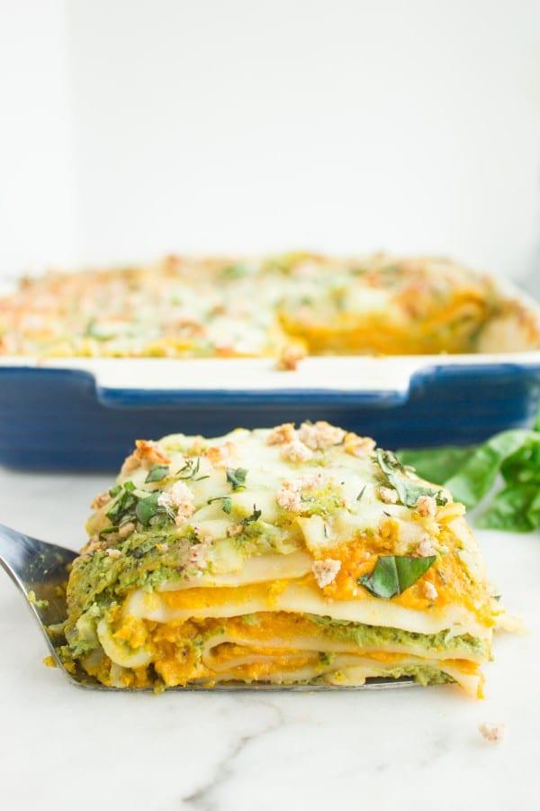 Squash Basil Amaretti Lasagna