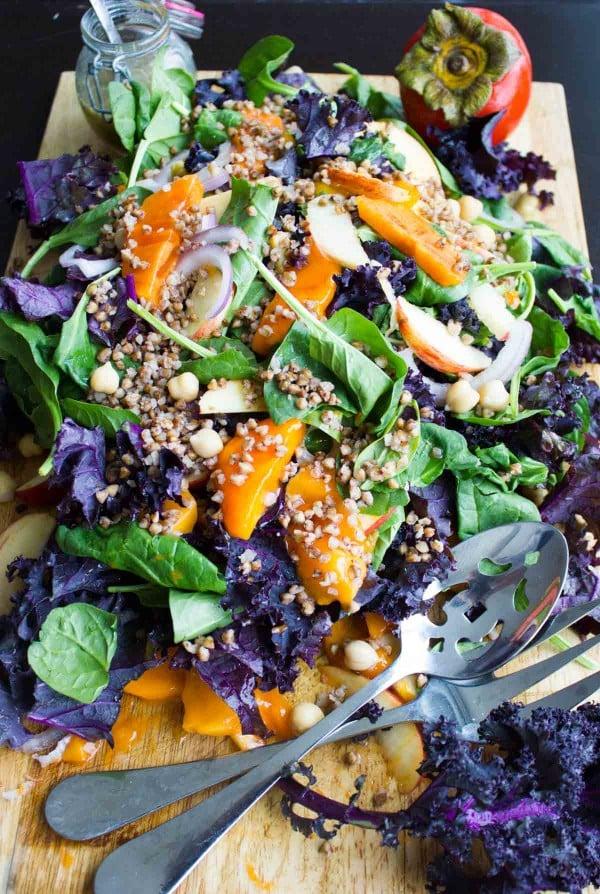 Buckwheat Persimmon Salad. www.twopurplefigs.com
