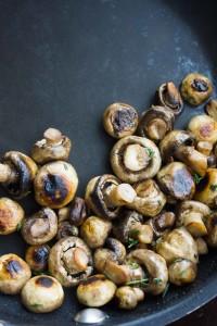 One Pan Creamy Mushroom Tortellini