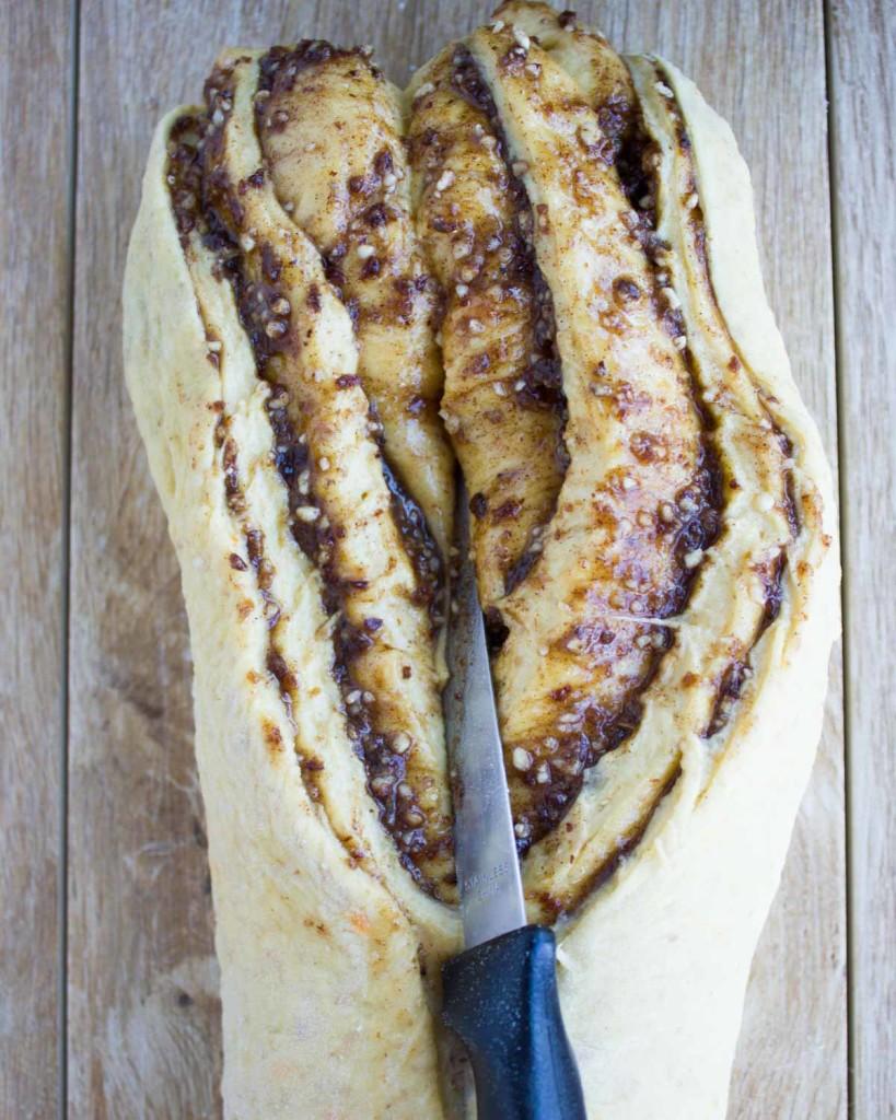 Persimmon Hazelnut Raisin Swirl Loaf. twopurplefigs.com