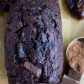 Double Chocolate Date Zucchini Bread. An absolutely intense chocolate bread that's moist, fluffy and divine! Healthy and good for you ONE bowl quick bread. Easy, satisfying and a chocoholic dream recipe--try it now! www.twopurplefigs.com