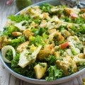 Italian Panzanella Salad With Basil Dressing. An Italian classic and favorite salad from Tuscany. Perfectly Vegan as it is or with broiled salmon strips--a recipe for potlucks, picnics, bbq and everyday dinner you CAN'T MISS! www.twopurplefigs.com