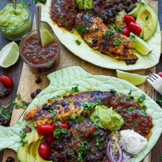 30 Mins Mexican Tilapia Fish Dinner. The absolute crowd pleasing Mexican infused fish dinner in mins! Quick, EASY, insanely delicious and perfect for busy nights! Get the recipe and variations for endless ways to enjoy this! www.twopurplefigs.com