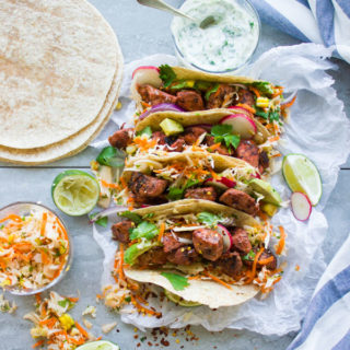 Fiery Tandoori Chicken Tacos With Cilantro Corn Slaw