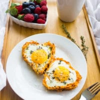 Baked Eggs in Sweet Potato Crusts. The absolute best way to have a cozy delicious breakfast in bed, and the absolute recipe to make a yummy breakfast for a crowd! Simply the perfect egg breakfast! www.twopurplefigs.com
