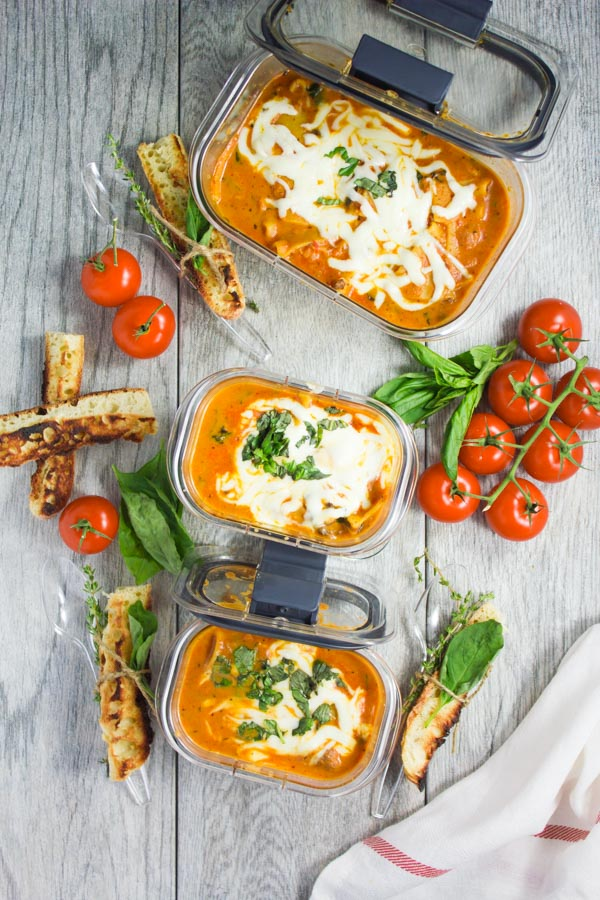 The Best Lasagna Soup. The best ever cozy comfort soup to make this season! A sip of flavorful lasagna in a thick creamy tomato garlic basil sauce--utter deliciousness! A crowd pleaser for both kids and adults--get this easy peasy recipe today! www.twopurplefigs.com