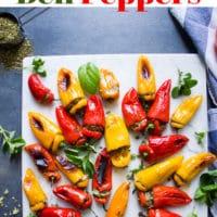 Long Pin for Mini Zesty Feta Stuffed Peppers