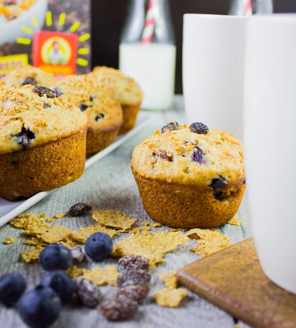 Ultimate Blueberry Raisin Bran Muffins. Just when you thought breakfast was challenging, this bran muffins swoops in loaded with bran, raisins, blueberries, fibre, protein and flavor!! Easy, quick and step by step recipe you'll make, love and hare forever! www.twopurplefigs.com