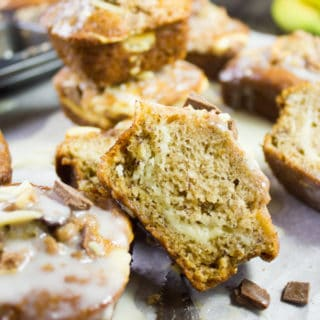 Cream Cheese Banana Bread Muffins