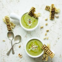 Smooth Blue Cheese Broccoli Soup. Sinfully luscious, delicious and quick--plus super good for you! get the recipe plus a handful of my favorite tips for soup perfections! www.twopurplefigs.com
