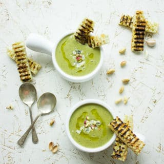 Smooth Blue Cheese Broccoli Soup