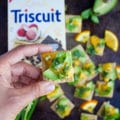 Orcadomintscuit is a combo of the simplest, freshest ingredients--orange, avocado, mint on a perfect TRISCUIT cracker! www.twopurplefigs.com