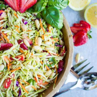 Italian Strawberry Balsamic Broccoli Slaw