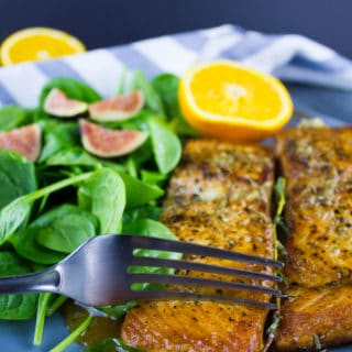Garlic Orange Seared Salmon