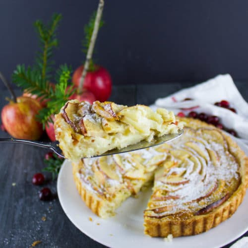 Swiss Apple Tart Recipe Two Purple Figs