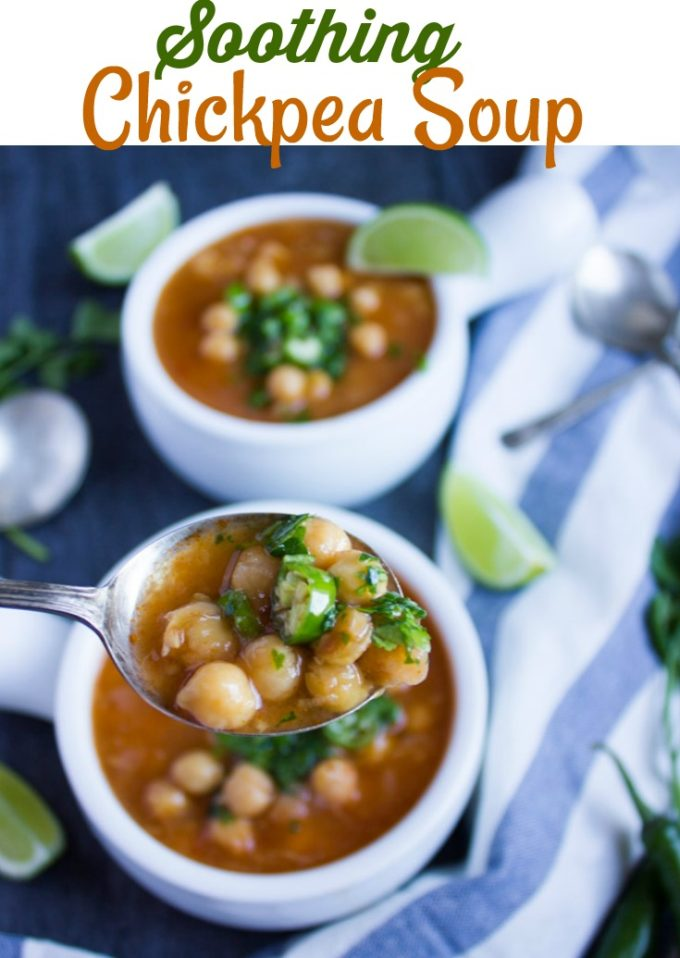 Long Pin for Soothing Garlic Chickpea Soup