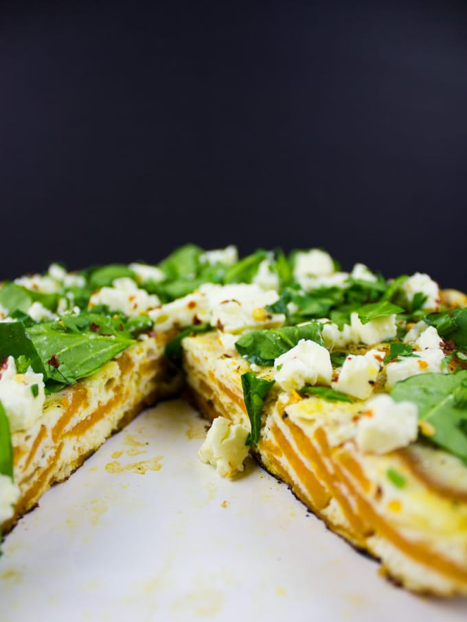 Spanish Tortilla with Egg Whites and Sweet Potatoes. The best twist on a classic!