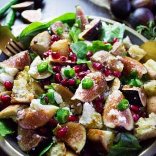 Bread Feta Salad with Figs