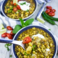 Moroccan Lamb and Turmeric Lentil Soup. Protein and flavor packed soup infused with lamb, lentils, chickpeas and simmered in a turmeric tomato broth! Super delicious hearty bowl you can not miss!