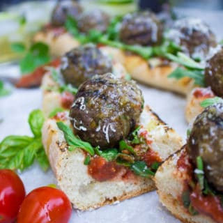 American Lamb Meatball Subs On The Grill