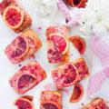 Easy Blood Orange Cakes And Glaze. Easy, sweet, delicious and tender orange cakes that taste like orange heaven!