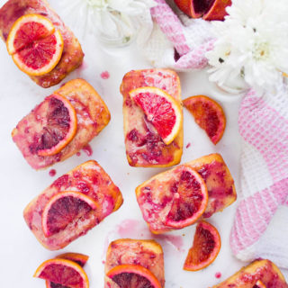 Easy Blood Orange Cakes And Glaze. Easy, sweet, delicious and tender orange cakes that taste like orange heaven!